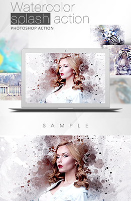 Watercolor Splash Photoshop Special Effects Image