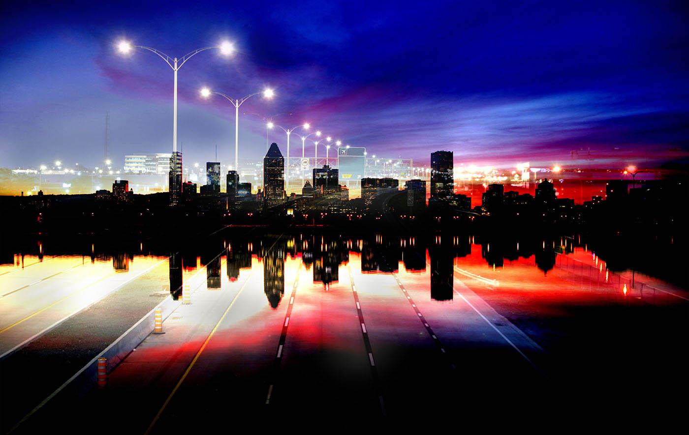 Montreal City Urban Montage 05 - Stock Photography