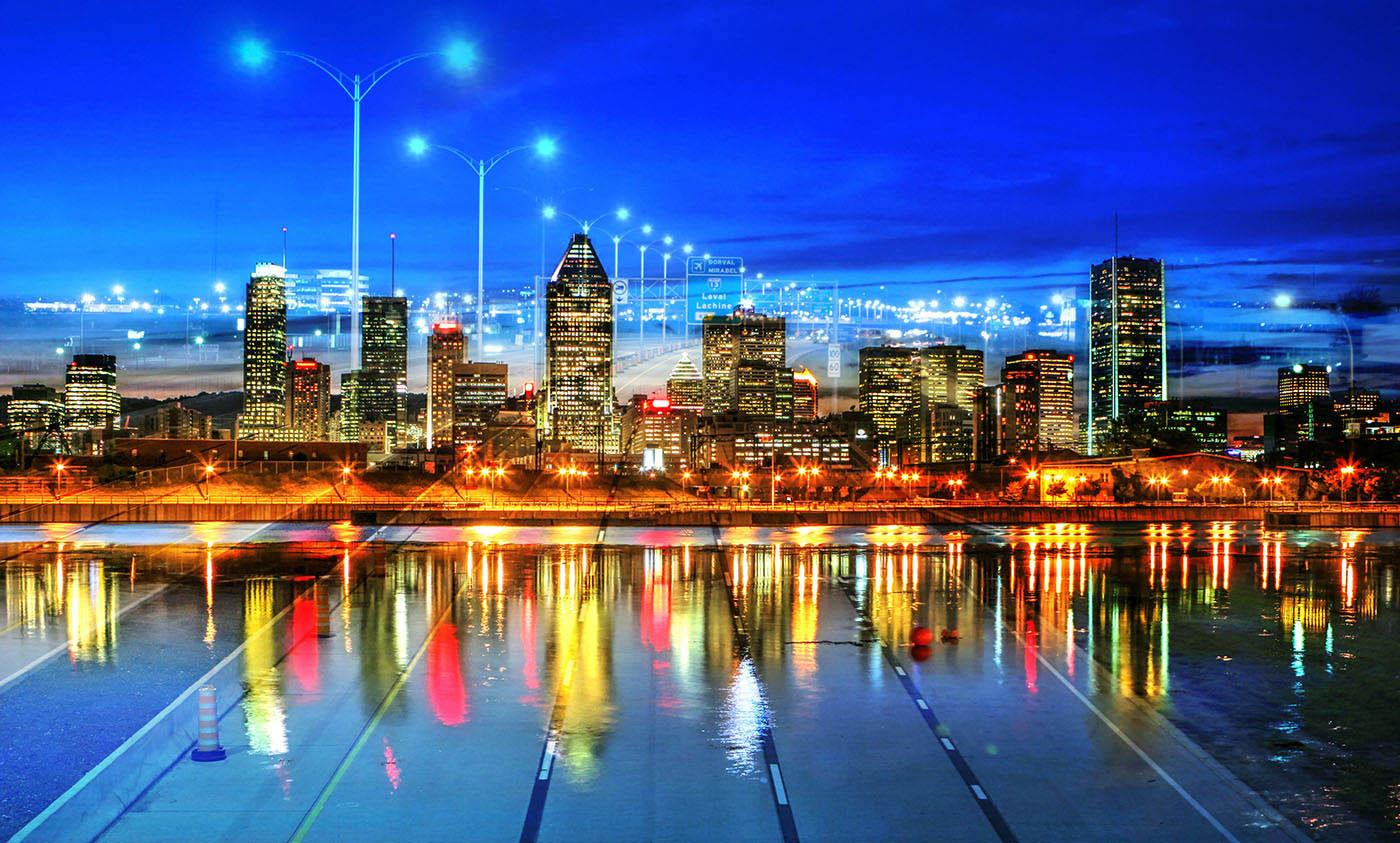 Montreal City Urban Montage 06 - Stock Photography