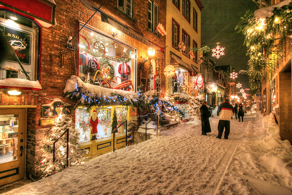 Old Quebec City District Alley - Stock Photography