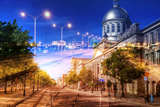 Bonsecour Market in Montreal - Stock Photography