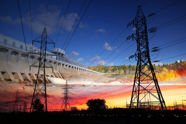 Electric Dam 02 - Stock Photography