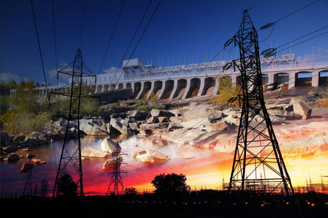 Electric Dam 03 - Stock Photography