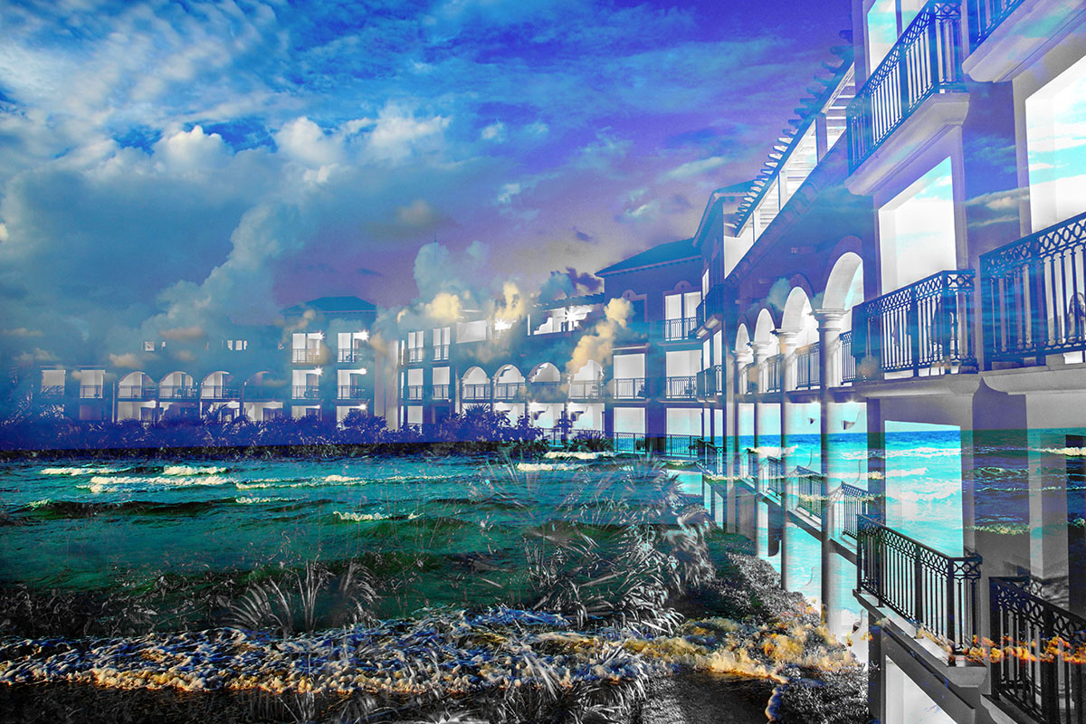 Hotel Resort Photo Montage 01 - Stock Photography