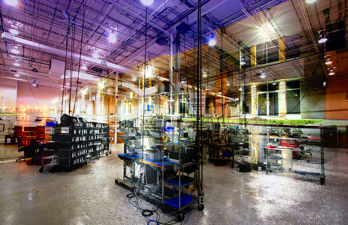 Industry Interior Photo Montage - Stock Photography