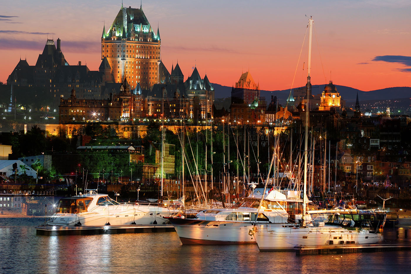 Quebec City Marina - Stock Photography