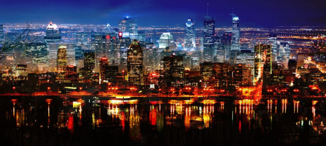 Montreal City in Double - Stock Photography