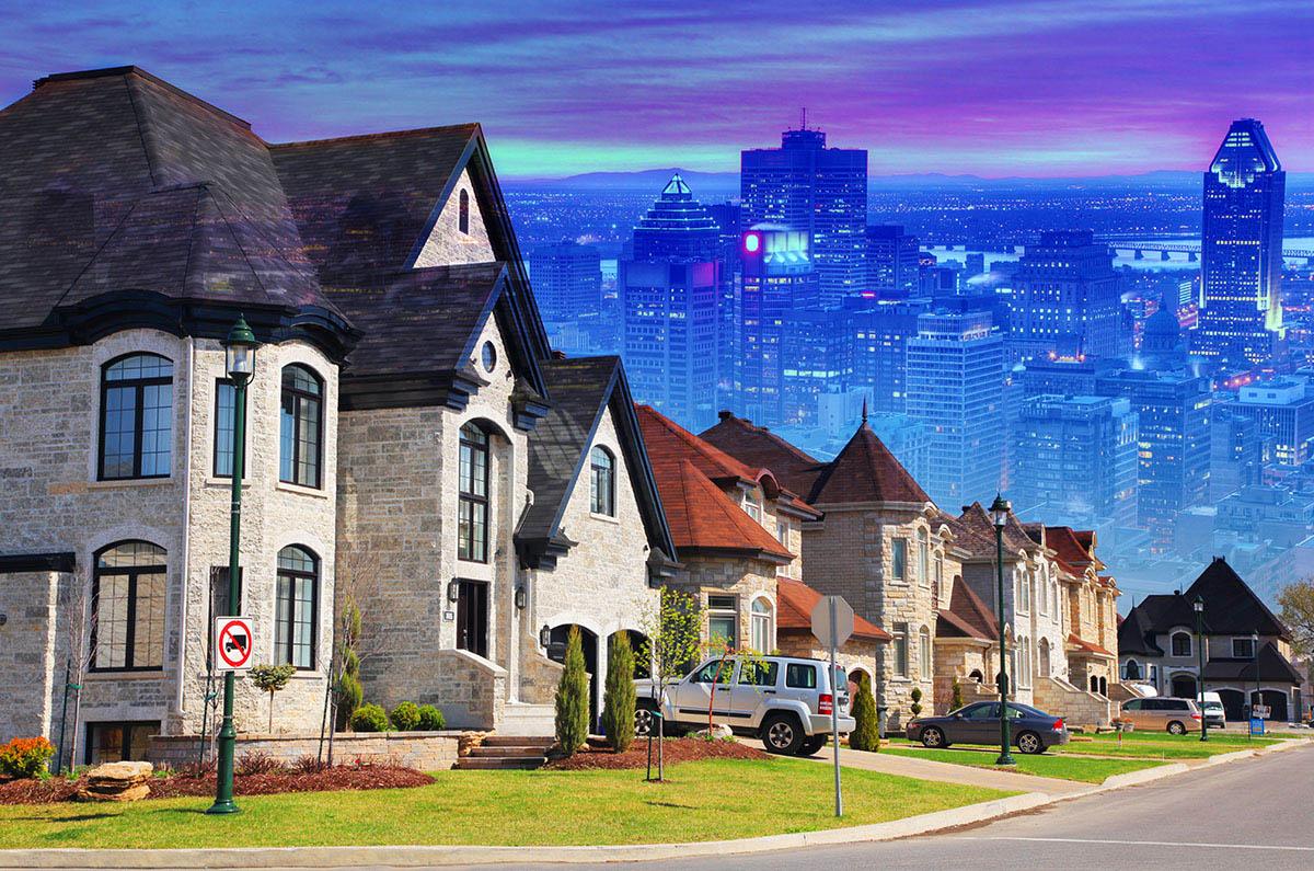 Urban Sprawl Photo Montage - Stock Photography