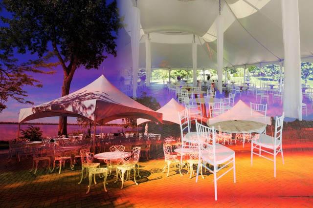 Celebration Tent Photo Montage - Stock Photography