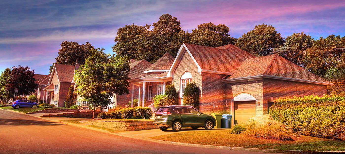 Cozy Neighborhood 01 - Stock Photography