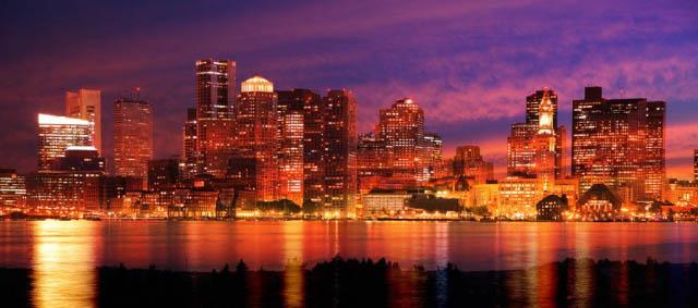Downtown Boston Skyline - Stock Photography