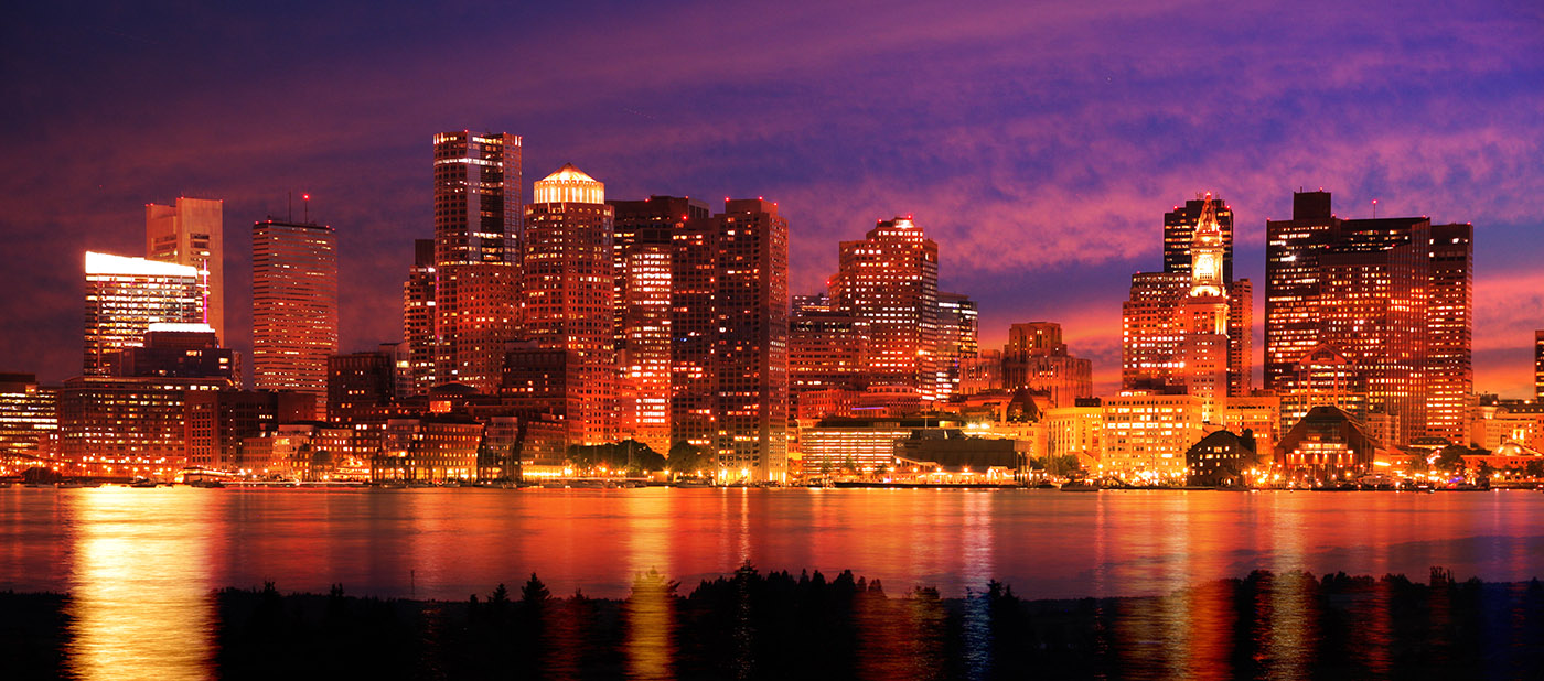 Downtown Boston Skyline - Stock Photography