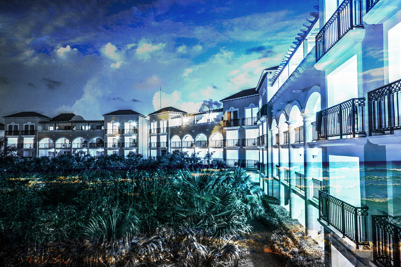 Hotel Resort Photo Montage 03 - Stock Photography