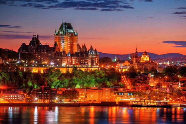 Quebec Frontenac Castle Montage 02 - Stock Photography