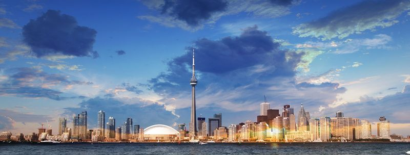 Toronto City Daytime Skyline Stock Photo