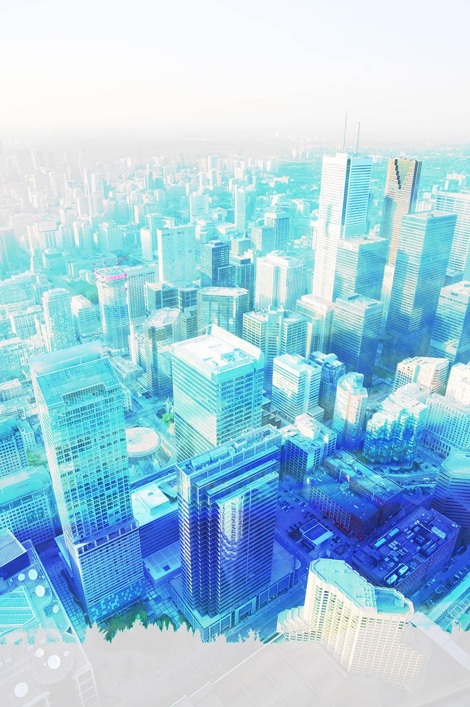 Urban Vertical Cityscape Stock Photo