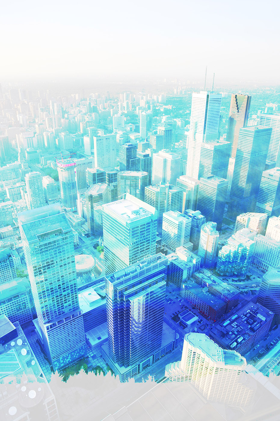 Urban Vertical Cityscape - Stock Photography