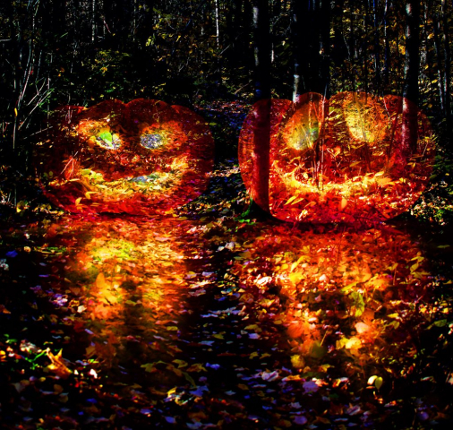 Halloween Scary Wood 3 - Stock Photography