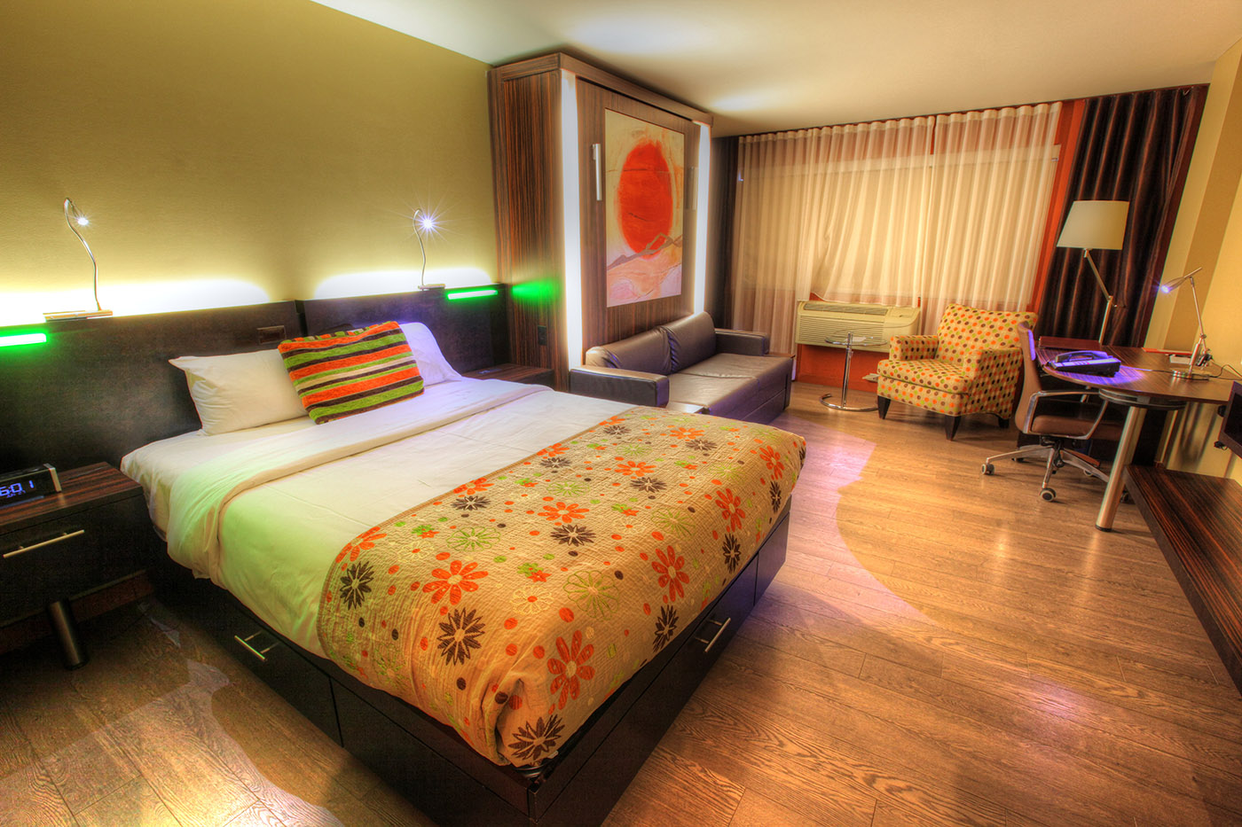 Colorful Hotel Room - Stock Photography
