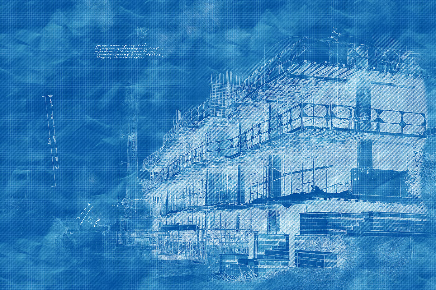 Construction Project Blueprint Sketch Image - Stock Photography