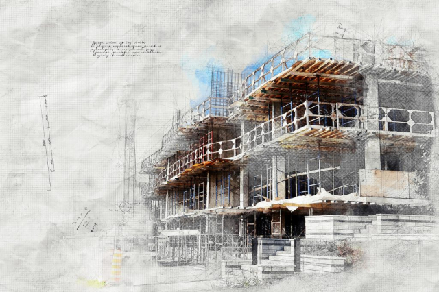 Construction Project Sketch Image - Stock Photography