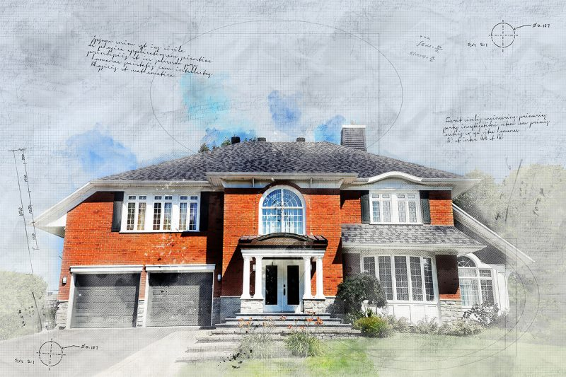 Large Luxury Habitation Sketch Image