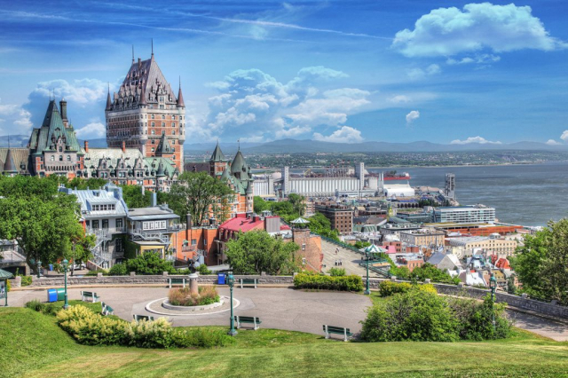 Old Quebec City District in Summer - Stock Photography