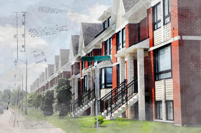 Urban Condos Sketch Image - Stock Photography