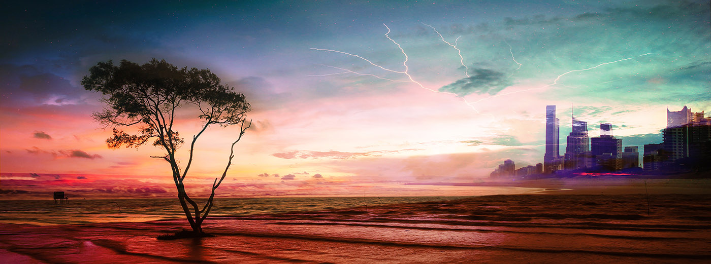 Colorful Apocalyptic Landscape 06 - Stock Photography
