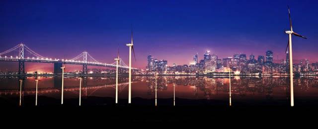 Urban Windmill 01 - Stock Photography