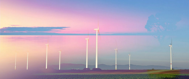 Windmills at Sunset 02 - Stock Photography