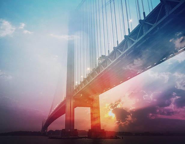 Surreal Suspension Bridge 01 - Stock Photography