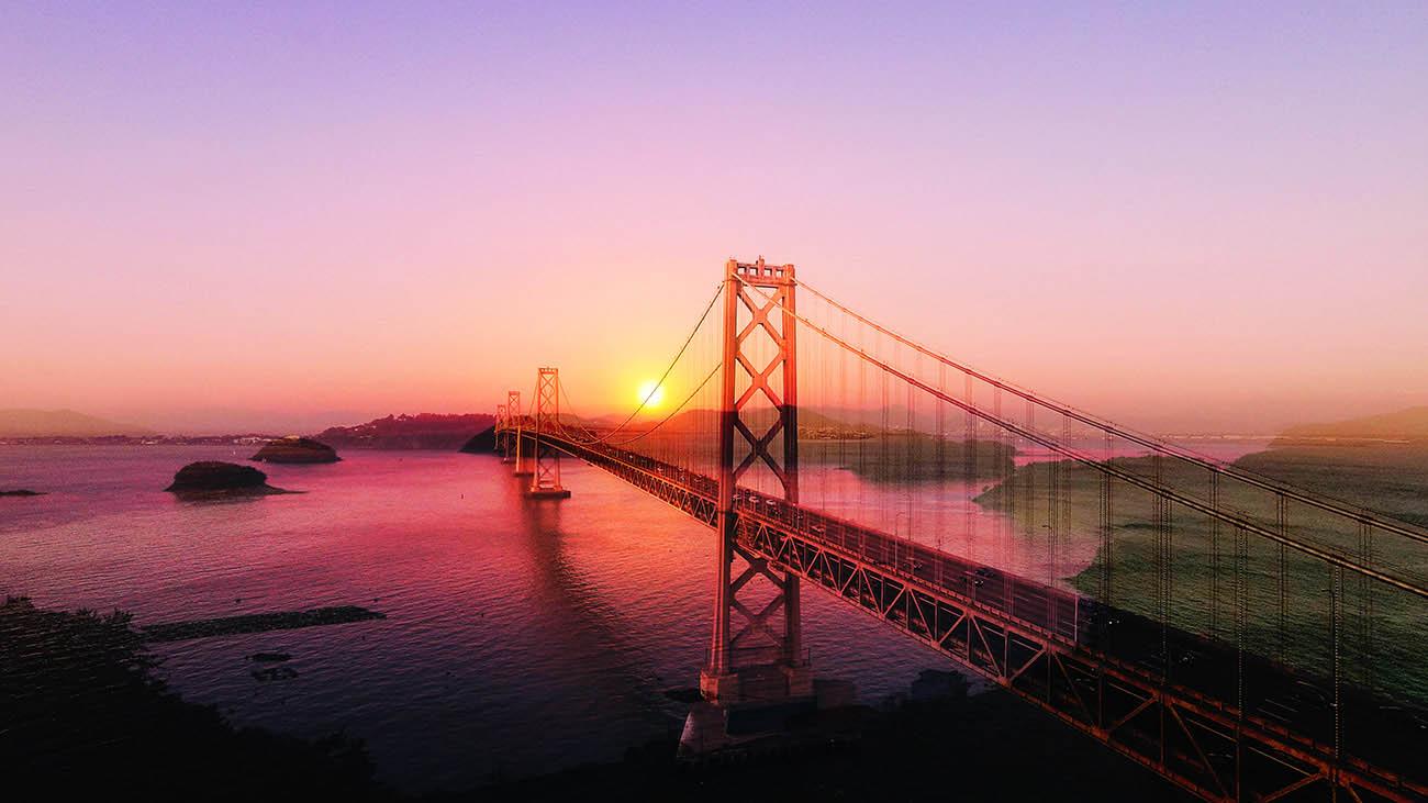 Surreal Suspension Bridge 03 - Stock Photography
