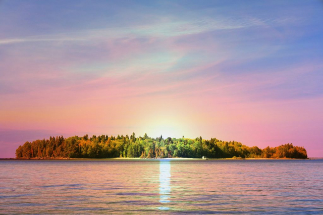 Peaceful Remote Island - Stock Photography