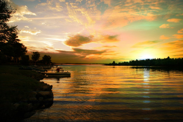 Perfect Sunset Lake - Stock Photography