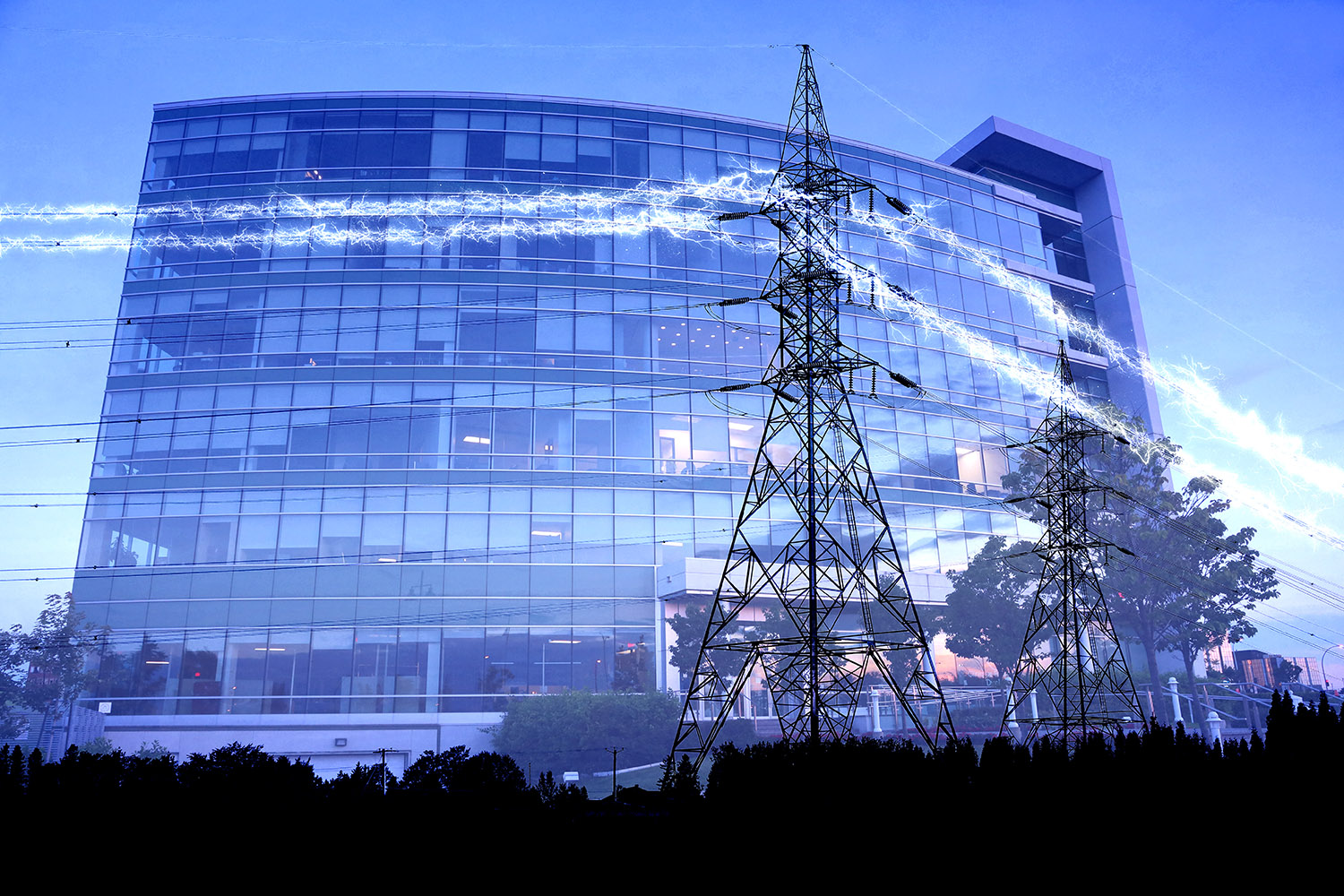 Business Electrification in Blue - Stock Photography