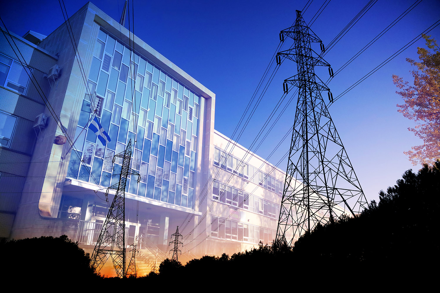 Commercial and Public Building Energy Efficiency - Stock Photography