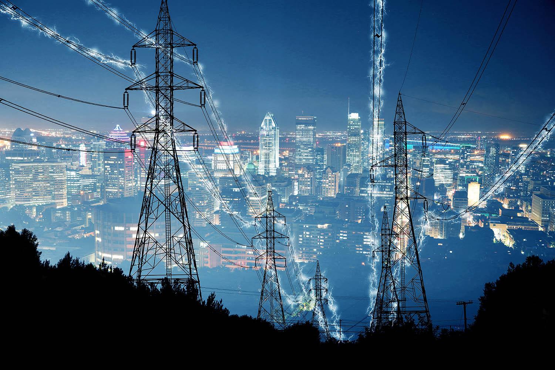Metropolitan Electrification in Blue - Stock Photography