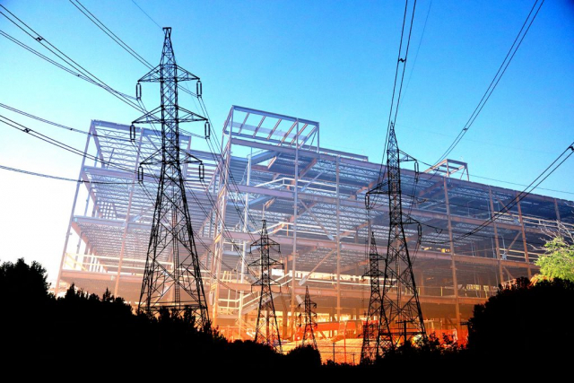 Modern Construction Industry Electrification - Stock Photography