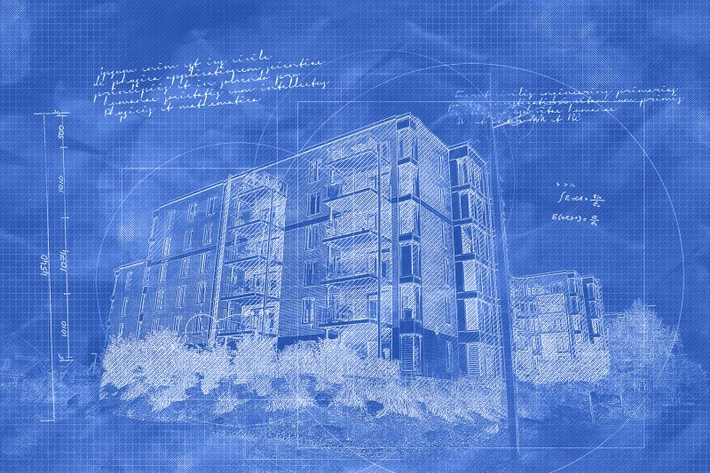 Condominium Building Construction Blueprint Design