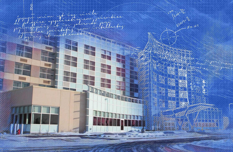 Industrial Building Construction Blueprint Split Design